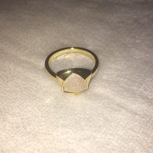 14k Gold Bezel Druzy Gem Ring
